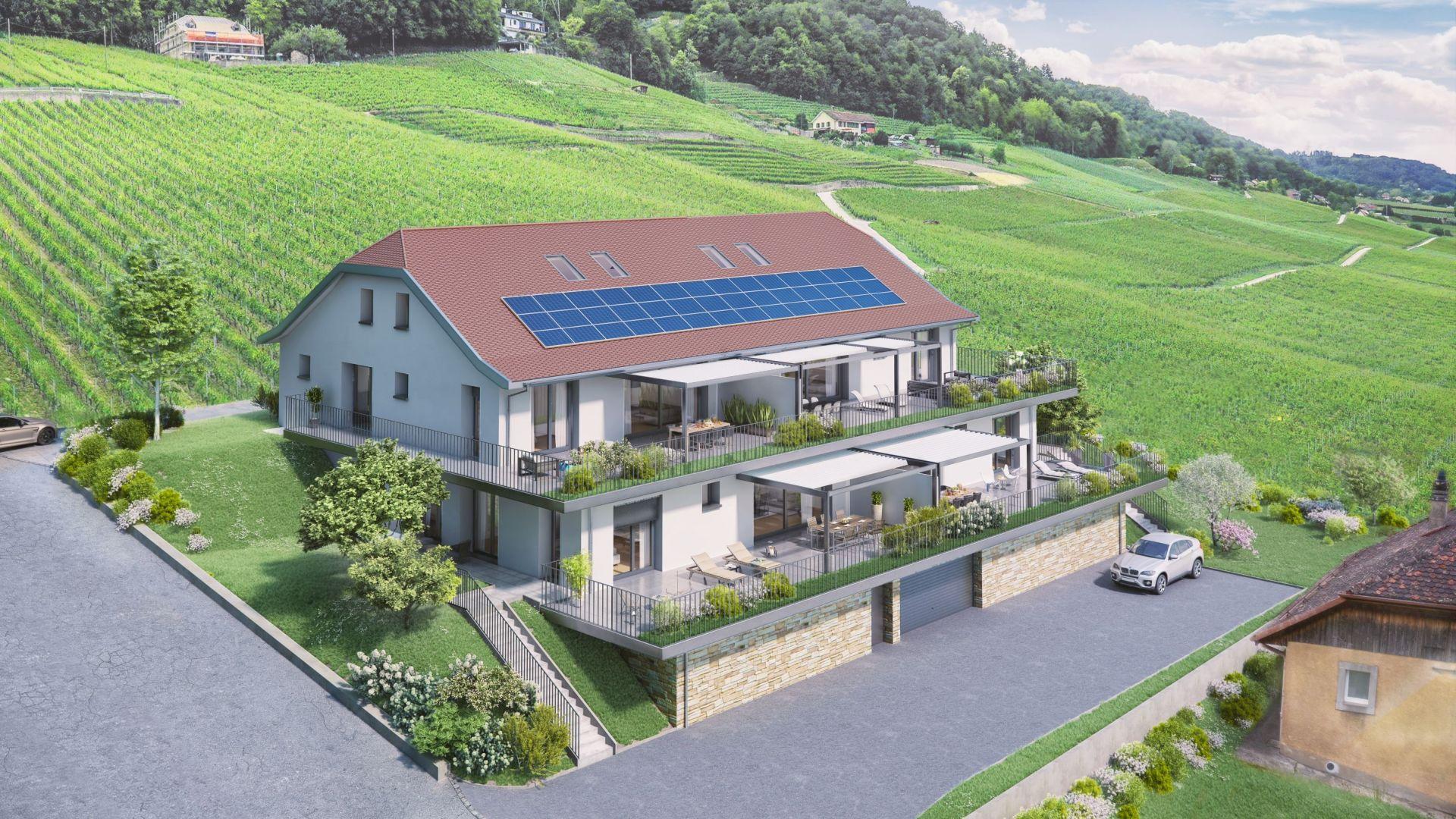Vinzel - Les Blanches Vignes - 4 appartements de haut standing - Projet terminé